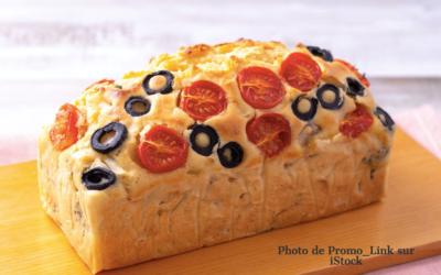 Cake tomates olives