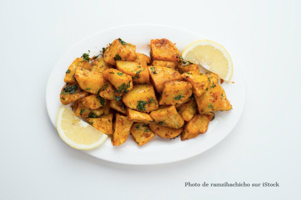 Dés de pommes de terre à la libanaise