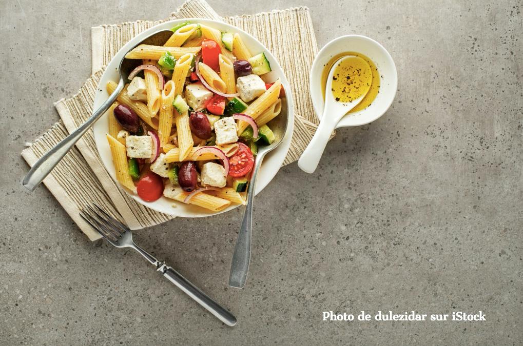 Salade de pâtes, à la grecque N°1