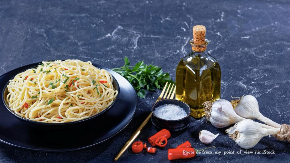 Spaghetti à l'ail et à l'huile